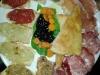 antipasto nel piatto grande della dogana