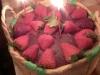 torta di fragole in stile contadino