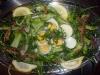 Le puntarelle con uova sode e alici